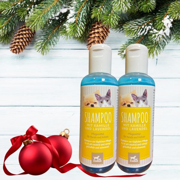 Hundeshampoo & Katzenshampoo + Kamille Lavendel I Fellpflege für Hund & Katzen Welpen I Hunde Shampoo gegen Juckreiz & Geruch I gereizte Haut I Shampoo ph neutral I Entfilzung 2 * 250m