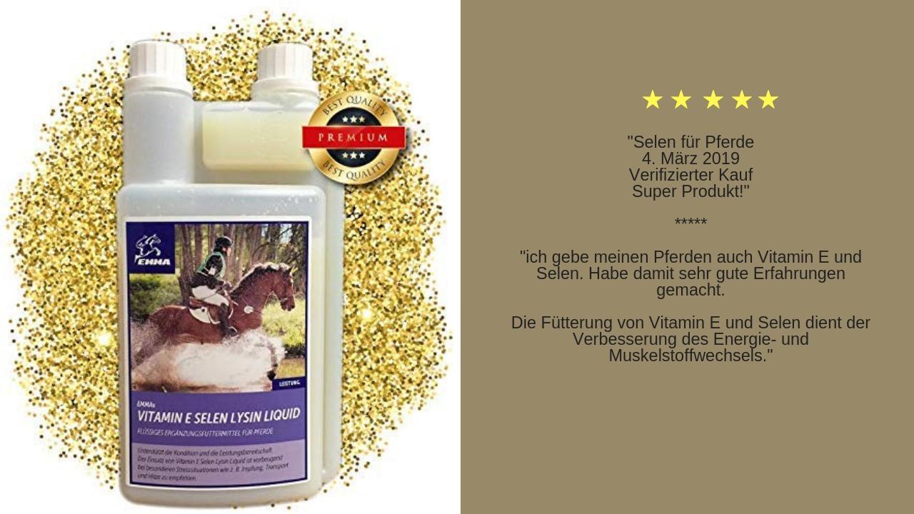 Vitamin e selen für Pferde ergänzungsfutter
