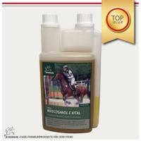 Reiskeimöl  für`s Pferd + Vitamin E für Muskelaufbau, Ergänzungsfutter für Pferde – 1L