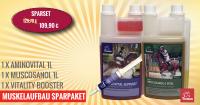 Ergänzungsgfutter Muskelaufbau Pferd-SPARSET, Aminosäure, Reiskeimöl + Amino Booster