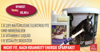 ENERGIE FÜR DAS PFERD I SPARSET I Life Mineralien & Elektrolyte, Vitamin E & Vitality Aminosäure Boo