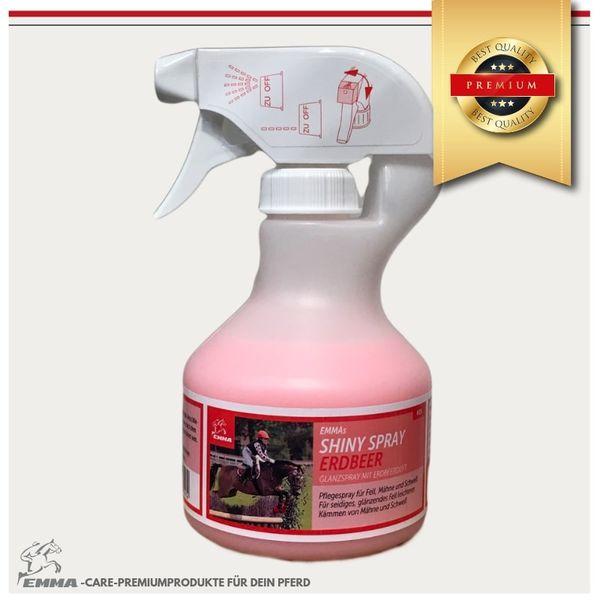 Glanzspray, Mähnenspray für Pferde mit Erdbeerduft