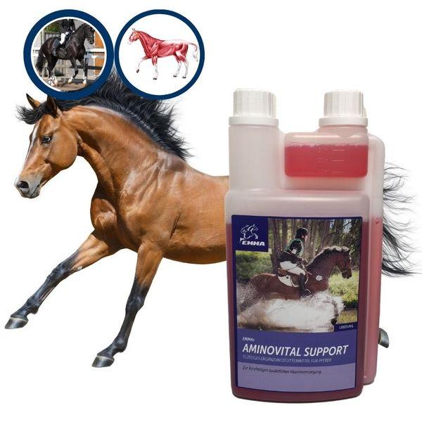 EMMA® Aminosäuren I Amino Liquid I Vitamin komplex (B1 B6 B12) I Lysin Plus Zink I Muskelaufbau für Pferde I Energy Booster Pferd I Regeneration Muskulatur I für Pferde & Sportpferde 1 L