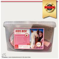 EMMA Pferde- Putzbox befüllt für Kinder, Pferdeshampoo & Mähnenspray pink