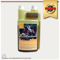 Leinöl fürs Pferd- Ergänzungsfutter für glänzendes Fell  & gute Verdauung, 1 Liter