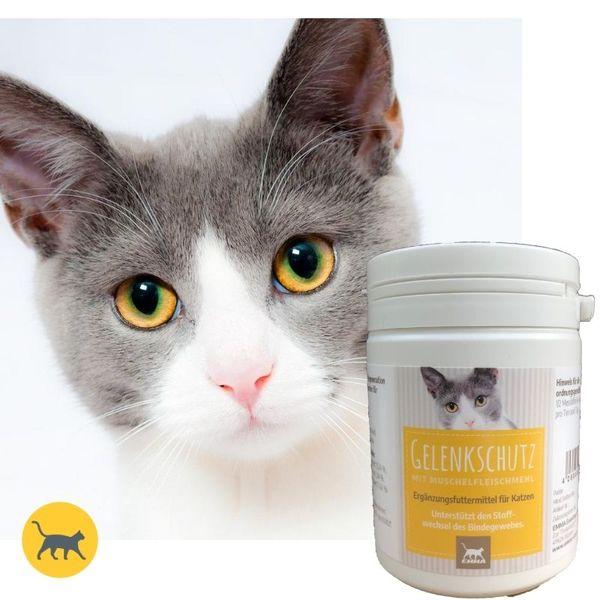 EMMA Gelenkschutz für Katzen I Nahrungsergänzung mit Muschelfleischmehl (Perna Canaliculus) I 150g I Schutz und Regeneration des Bewegungsapparates I