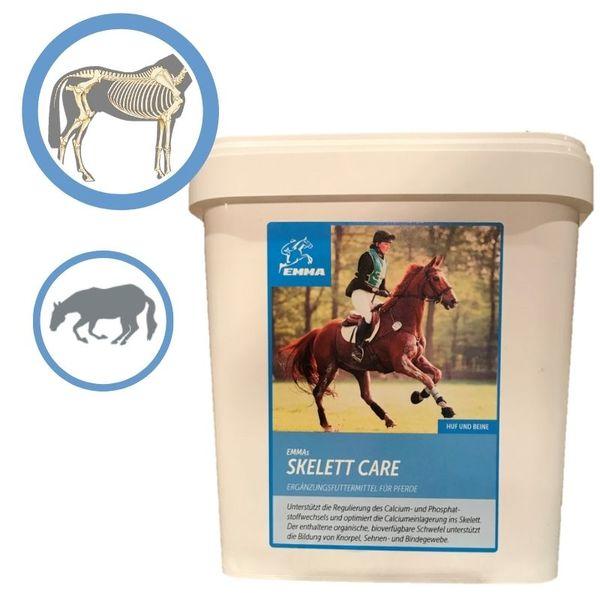 EMMA® Skelett Care Zusatzfutter I MSM Pulver Pferd I + Bierhefe I Calcium Vitamin C K 3 Knochenaufbau & Phosphatstoffwechsel I Gelenk komplex I Ergänzungsfutter versandkostenfrei ab 15 € im EMMA Shop