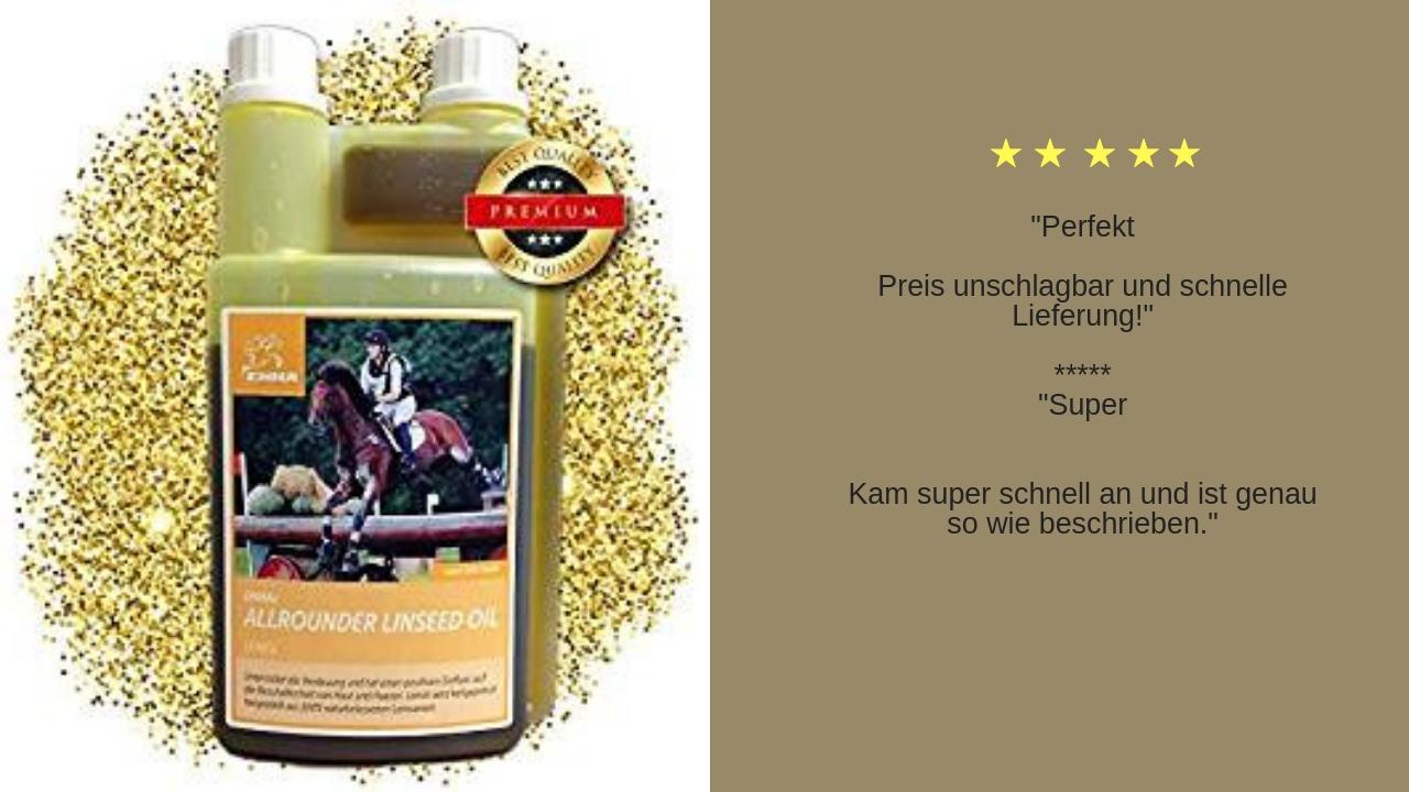 Leinöl für Pferde ergänzungsfutter barföl hunde