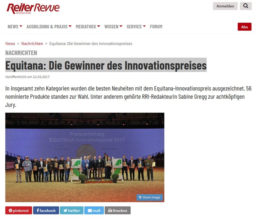 Reiter Revue EMMA Eventing Innovationspreis