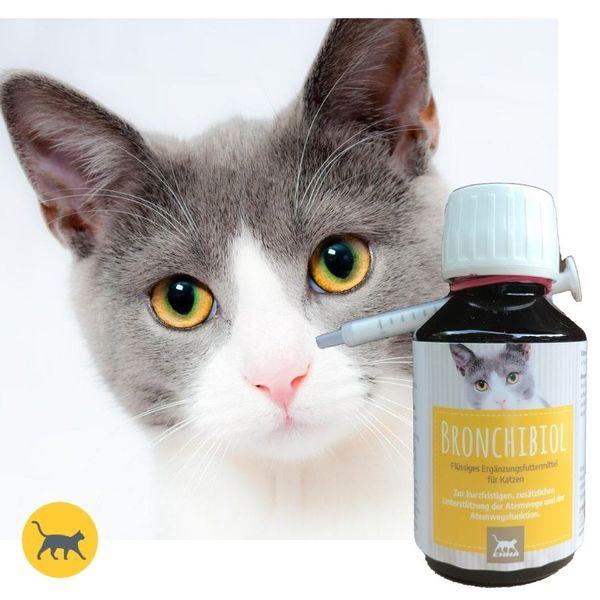 Hustensaft für Katzen I Bronchial Tropfen mit Thymian I Bronchialkräuter