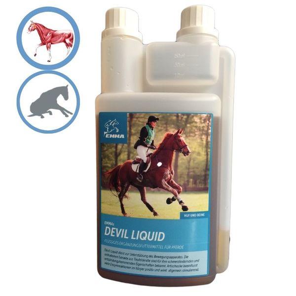 EMMA Teufelskralle Liquid Pferd Flüssig Pferdefutter für die Gelenke I Beweglichkeit & Gelenkpflege Pferde I auch für Senioren 1 Liter