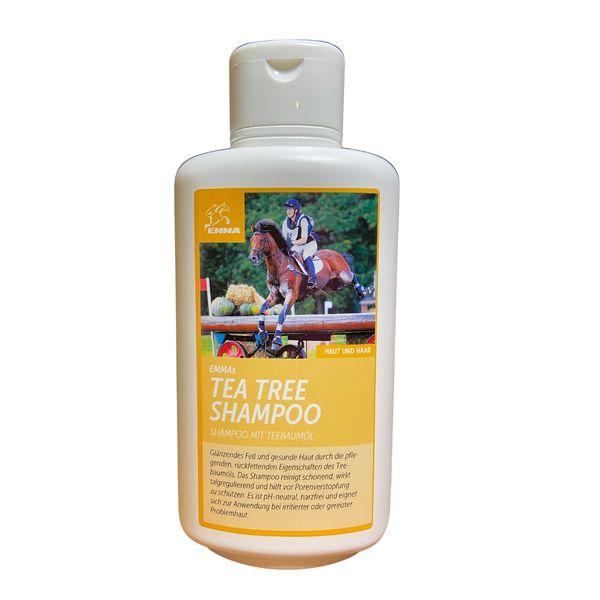 EMMA Pferdeshampoo I Shampoo für Pferde & Hunde mit Teebaum-Öl I ph-neutral & mild I bei empfindlicher Haut I Ekzem I Juckreiz I 500ml