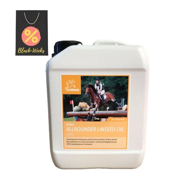 Leinöl für Pferde & Hunde, Kanister Sparset, Omega 3-6 Fettsäure Ö 2500ml