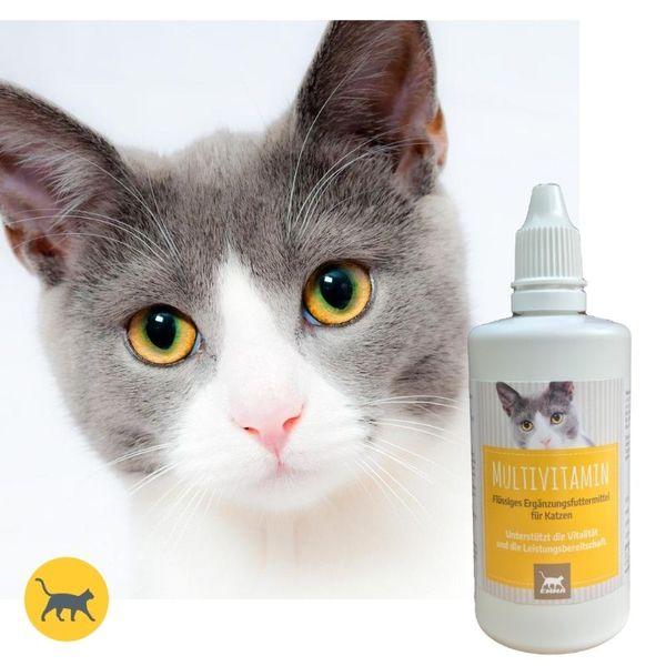 EMMA Multi Vitamine  B Komplex für Katzen, Vitamin B1, B2, B6, B12, Calcium, Folsäure, Eisen, Zink Flüssig 100 ml