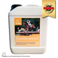 Leinöl fürs Pferd- Ergänzungsfutter für glänzendes Fell  & gute Verdauung-du sparst 25%, 2,5 Liter